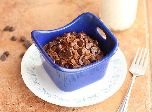 Single Serve Chocolate Pumpkin Cake (Sugar-Free!)