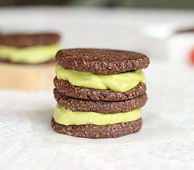 Raw Ice Cream Sandwiches