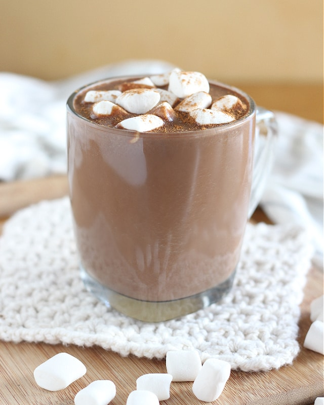 Hot chocolate made with coconut sugar and stevia