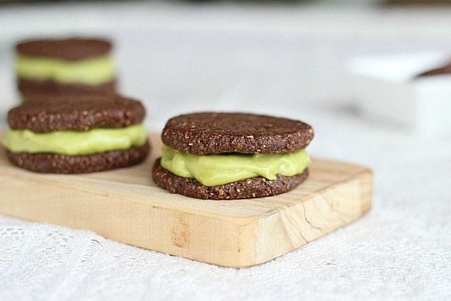 Raw avocado chocolate treats