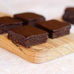 Raw Chocolate Brownies with Chocolate Icing