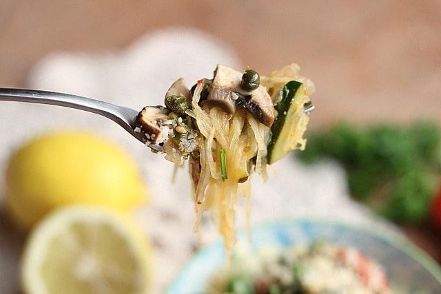 Lemon Caper Spaghetti Squash (GF, Vegan)3