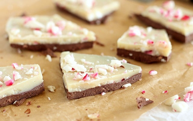 Healthy peppermint bark recipe