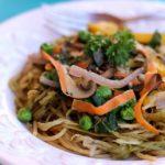 Pasta Primavera and Eggplant Noodles