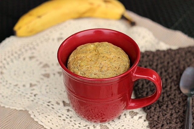Banana Cornbread Mug Cake
