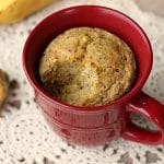 Banana cornbread mug cake made with oats