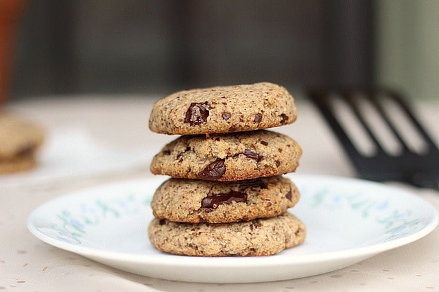 Paleo and vegan chocolate chip cookies