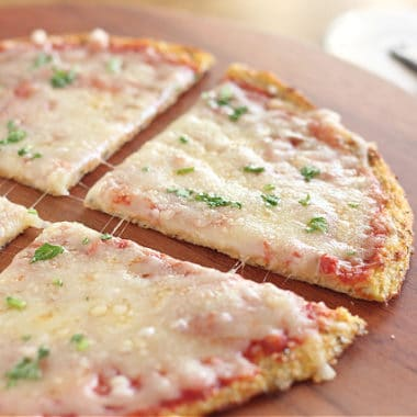How to make a low carb cauliflower pizza crust