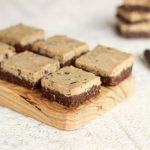 Double Layer Chocolate Cookie Bars (Nut-Free, Raw, Vegan)