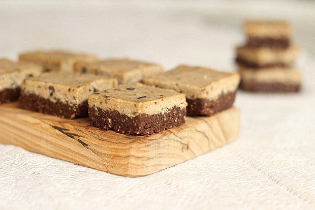 Double Layer Chocolate Cookie Bars (Nut-Free, Raw, Vegan)