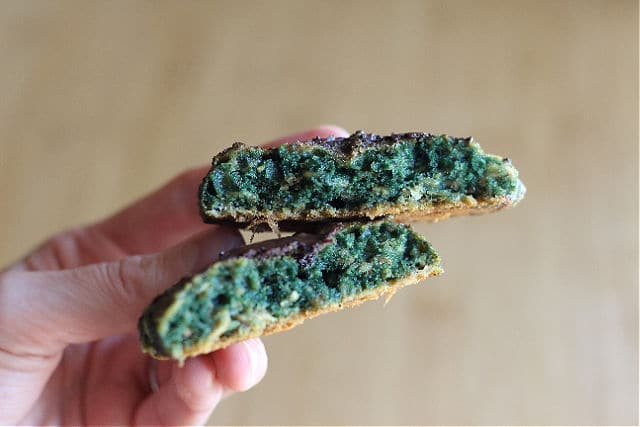 Healthy Sunbutter cookies that are green