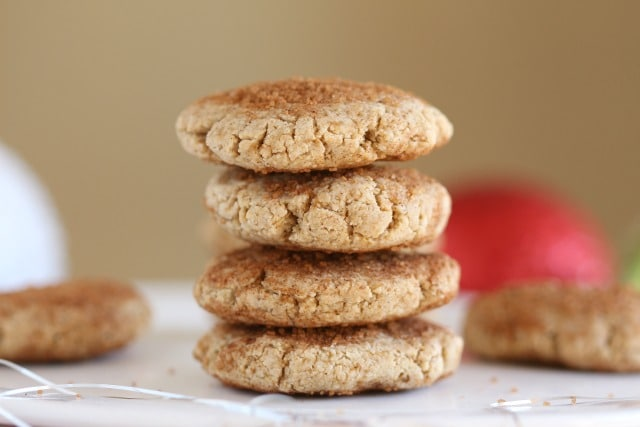 Healthy snickerdoodle recipe with oat flour
