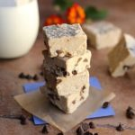 Chocolate chip fudge made with beans