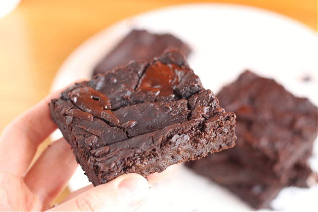 Black bean brownies with oats