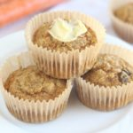 Oat flour carrot cake muffin recipe