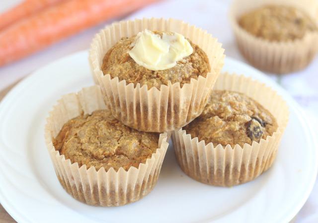 Oat flour carrot cake muffin recipe