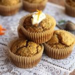 Carrot cake muffins with oat flour