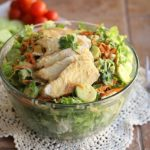 Chinese Chicken Salad with Spicy Peanut Dressing