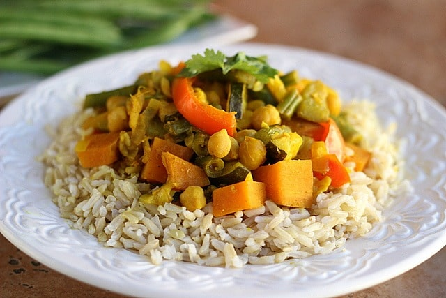 Chickpea Vegetable Curry V GF SF