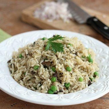 Mushroom Brown Rice Pilaf (Vegan, Gluten-Free)
