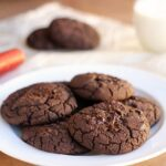 Fudgy Double Dark Chocolate Black Bean Cookies (Vegan, GF, Nut-Free)