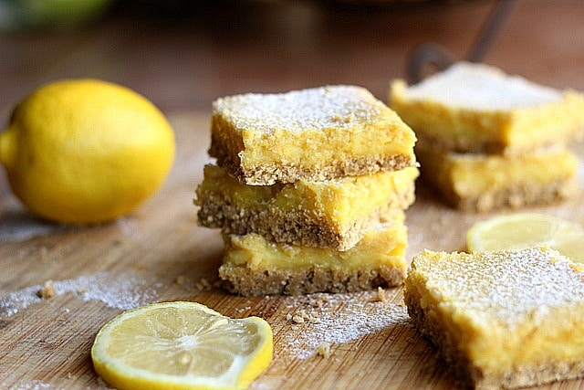 Clean Honey Lemon Bars (GF, Dairy-Free, Nut-Free)