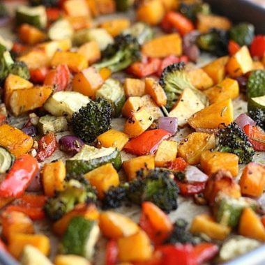 Balsamic Rosemary Roasted Vegetables (Vegan, Grain-Free)