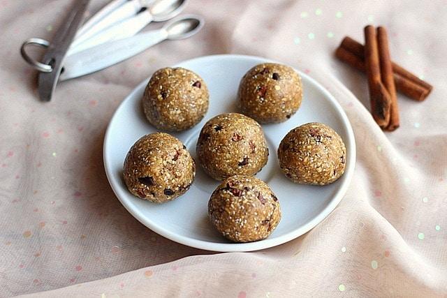 No-Bake Chocolate Chip Cookie Dough Balls (Date-Free, Vegan)