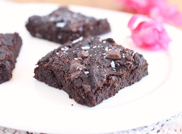 Healthy brownies made with prunes in place of fat