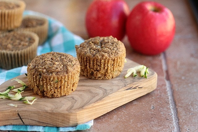 Autumn-Spiced Zucchini Apple Muffins (Vegan) 4