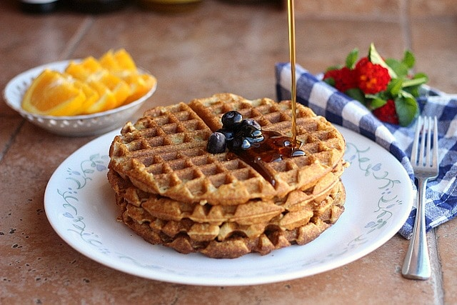 Easy, Chickpea Flour Waffles (Gluten-Free)