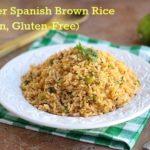 Lighter Spanish Brown Rice