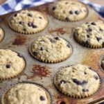 Oatmeal muffins with blueberries