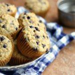 Soaked Oatmeal Blueberry Vanilla Muffins (Nut-Free, GF Option)