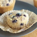 Soaked Oatmeal Blueberry Muffins