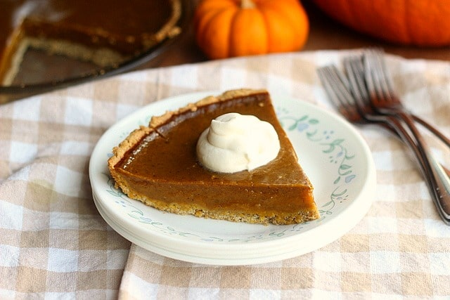 Clean Honey Pumpkin Pie (Egg-Free, Dairy-Free, Oil-Free) 5