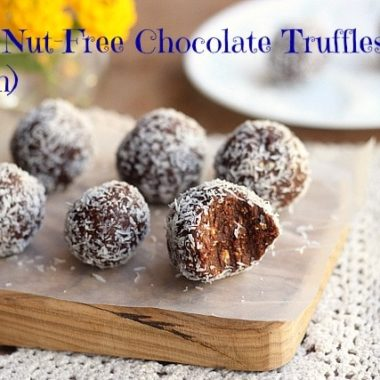 Easy, Nut-Free Chocolate Truffles (Vegan) –Video