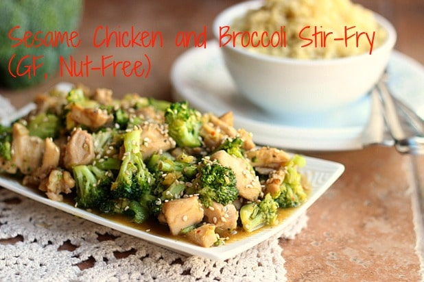 Sesame Chicken and Broccoli Stir-Fry (GF, Nut-Free)