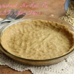Pie crust made with oat flour.