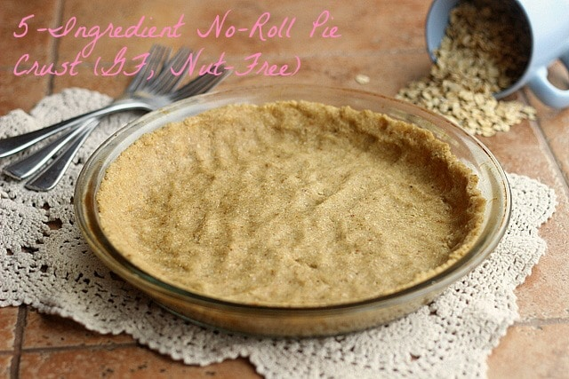 5-Ingredient No-Roll Pie Crust (GF, Nut-Free)