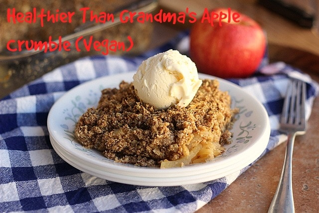 Healthier Than Grandma's Apple Crumble (V)