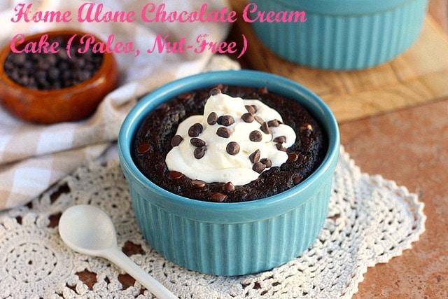Home Alone Chocolate Cream Cake (Paleo, Nut-Free)