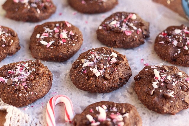 Fudgy Flourless Chocolate Mint Cookies (Paleo) 2