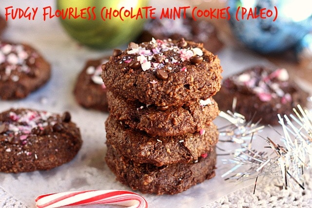 Fudgy Flourless Chocolate Mint Cookies (Paleo) 3