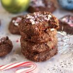 Fudgy Flourless Chocolate Mint Cookies (Paleo)