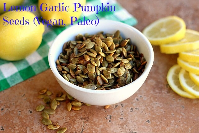 Lemon Garlic Pumpkin Seeds (V, Paleo)