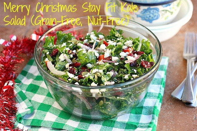Merry Christmas Stay Fit Kale Salad (Grain-Free, Nut-Free) 1