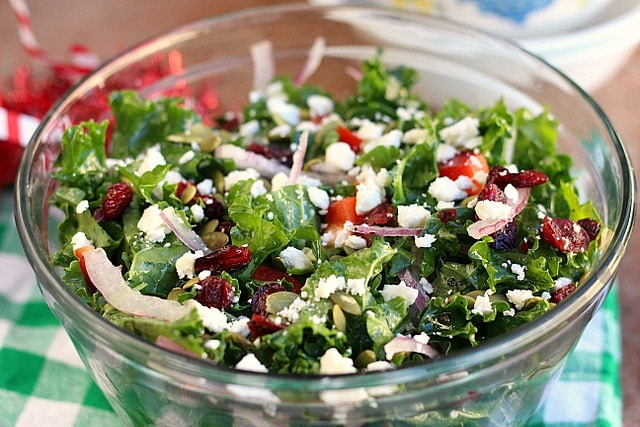 Merry Christmas Stay Fit Kale Salad (Grain-Free, Nut-Free) 2