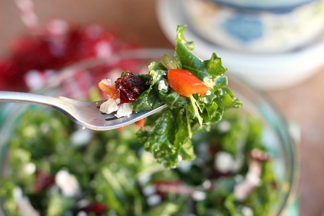 Merry Christmas Stay Fit Kale Salad (Grain-Free, Nut-Free) 3