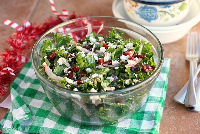 Merry Christmas Stay Fit Kale Salad (Grain-Free, Nut-Free) 4